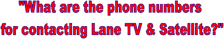 """What are the phone numbers