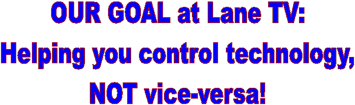 OUR GOAL at Lane TV: